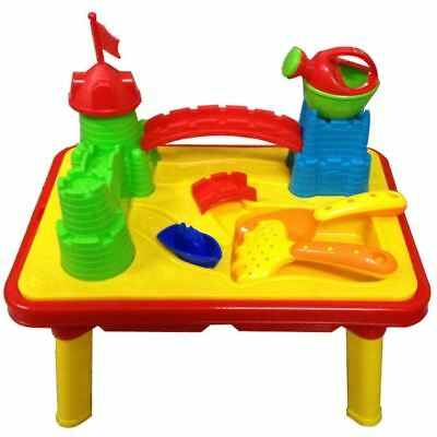 Castle Sand And Water Table Work Pit Desk Play Moulds Kids Toy Game Set 214044