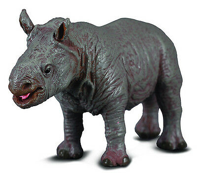 CollectA 88089 White Rhinoceros Calf African Wildlife Toy Animal Replica - NIP