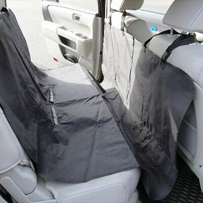 Black Waterproof Car Dog Seat Cover Cat Pet Protector Travel Auto Rear Oxford