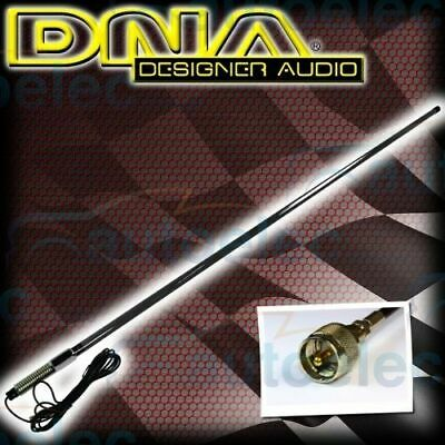 Dna Bushstick Heavy Duty Black Fiberglass Hi Gain Uhf Cb Radio Antenna Bull Bar