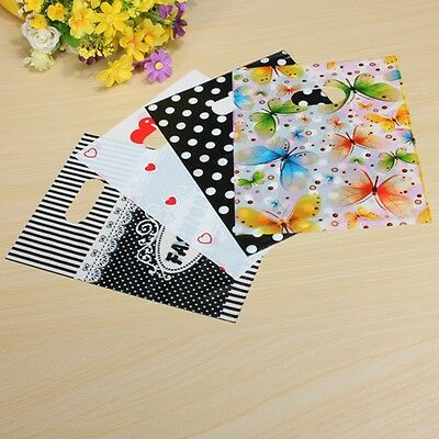 100PCS Colorful Printing Plastic Gift Decorated Packing Shopping Bag 15X20CM Hot