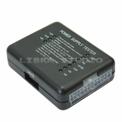 10 LEDs 20/24 Pin PSU ATX SATA HDD Power Supply Tester Checker Meter for PC