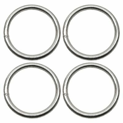 6mm x 50mm Steel Round O Rings Welded Zinc Plated DK37