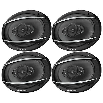 """4 x Pioneer TS-A6970F 6"""" X 9"""" 600W Max Car Audio Coaxial 5-Way Stereo Speakers"""