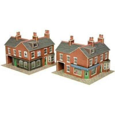 PN116 N Scale Corner Shop & Pub in Red Brick Metcalfe Model Kit Building