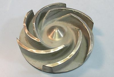 """Pump Impeller 5-5/8"""" OD 6 Vane MY50731A62-DCI 0.68"""" Thread DX51077AA Used"""