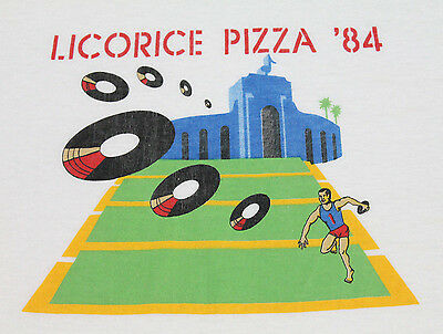 XS * vtg 80s 1984 LICORICE PIZZA record store t shirt * 54.115