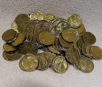 Pocket Guardian Angel - Used Set of 5 (Five) - Coin Medal Token  Protection Luck