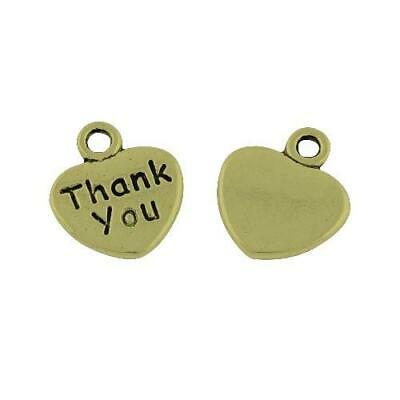 Thank You Charm/Pendant Tibetan Steampunk Antique Bronze 12mm  20 Charms Crafts