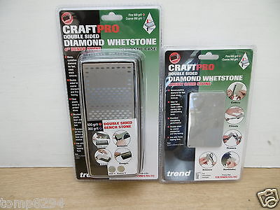 """Special Deal Trend Diamond Whetstone Sharpening 6"""" Bench & Credit Card Stone"""