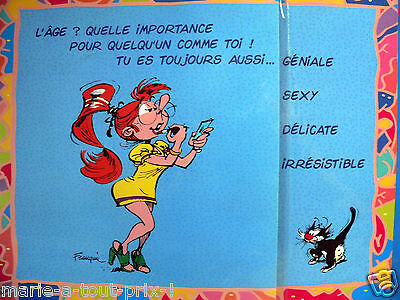 rare grande carte postale d 39 anniversaire humour de gaston lagaffe enveloppe eur 5 90. Black Bedroom Furniture Sets. Home Design Ideas