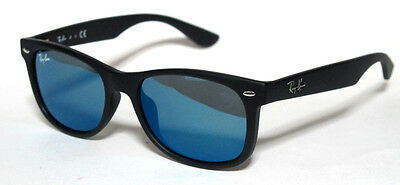 Ray Ban 9052S 9052/s 47 Junior 100S55 Sunglasses Matte Black Bambini Sole Nero