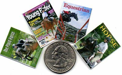 4 Miniature   'Horse & Equestrian'   Magazines  -   Dollshouse 1:12 scale