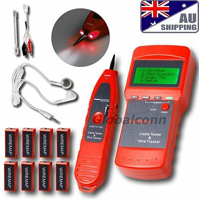 AU Network LAN Cable Tester Phone Wire Tracker RJ45  BNC  Scanner 8 Identifiers