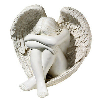 New Design Toscano Serene Solitude Angel Statue Garden Ornament Figurine