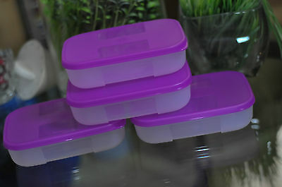 SUPER!!BARGAIN!!!  SET OF 4 NEW RARE TUPPERWARE 1C FREEZER MATES CONTAINERS!!