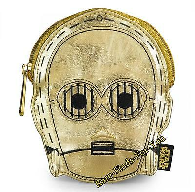 Disney Parks Star Wars Droid C-3PO Face Coin Bag Purse Wallet by Loungefly (NEW)