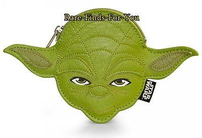 Disney Theme Parks Star Wars Jedi Yoda Coin Bag Purse Wallet by Loungefly (NEW)