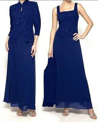 Mother of Bride Groom Wedding evening Prom Gown &Jacket formal dress plus 16W 1X
