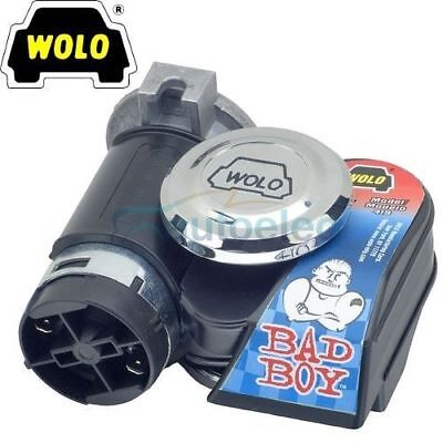 Wolo Bad Boy Air Horn Compact Trumpet New For Car Truck 12V 12 Volt Black 419