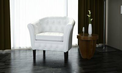 Edle Chesterfield Sessel Lounge Couch Sofa Wohnzimmer Club Edler Clubsessel WEIß