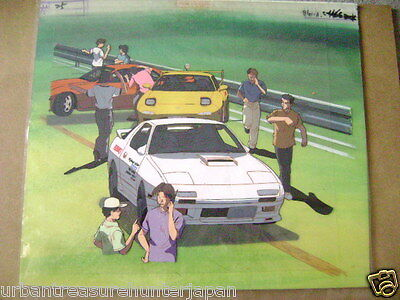 Initial D Mazda Rx7 Rx-7 Takahashi Brothers Anime Production Cel And Background