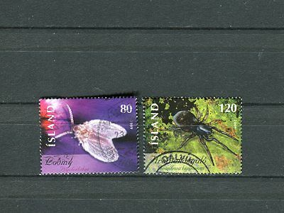 Iceland Scott #1160-1161 Insects Cancelled