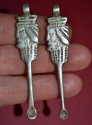 Ethiopian Handmade Christian King Ear Pick / Ear Spoon Pendants Ethiopia, Africa
