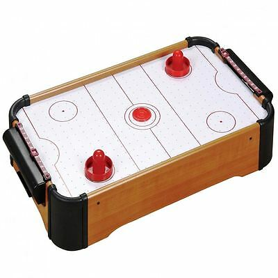 Mini Table Top Air Hockey Game Pushers Pucks Family Xmas Gift Arcade Toy Playset