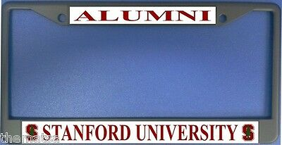 Stanford University Alumni Chrome Metal Usa Made License Plate Frame