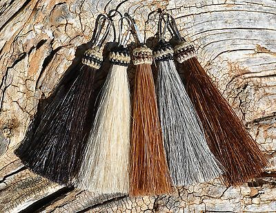 """100% Horsehair Zipper Pull - Natural Colors -3"""" - Jacket/Backpack/Purse"""