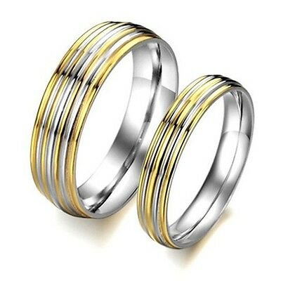 R048 Titanium Steel Promise Ring Couple Wedding Bands lovers gift wholesale