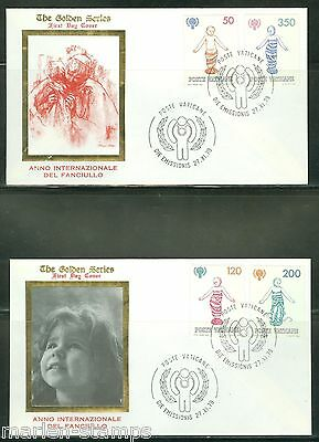 Vatican City Scott#664/67  Lot  Of Two Different First Day Covers