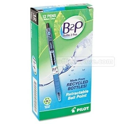 12 Pilot 32800  BeGreen B2P Ball Point Pen Med point Black ink 1.0mm fine point