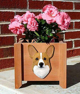Welsh Corgi Pembroke Planter Flower Pot Blonde