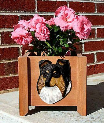 Sheltie Planter Flower Pot Tri