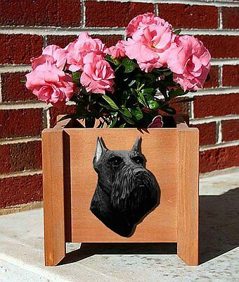 Schnauzer Planter Flower Pot Black