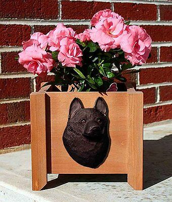 Schipperke Planter Flower Pot