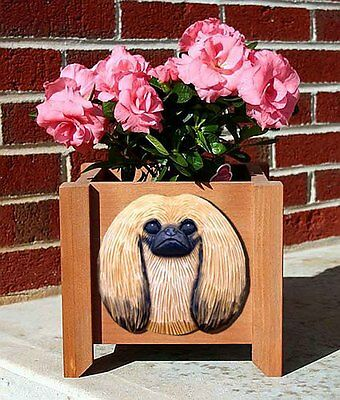 Pekingese Planter Flower Pot Sable