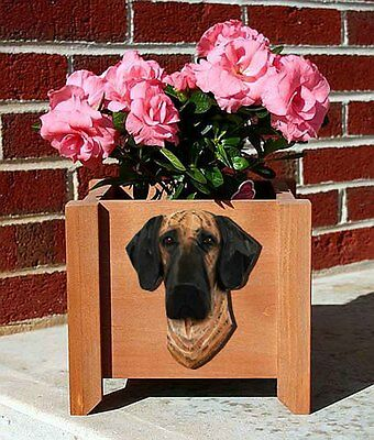 Great Dane Planter Flower Pot Brindle