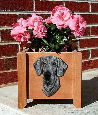 Great Dane Planter Flower Pot Blue