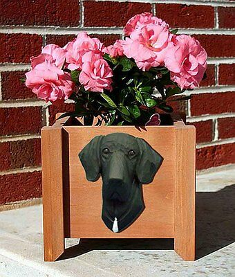 Great Dane Planter Flower Pot Black