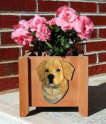 Golden Retriever Planter Flower Pot Light