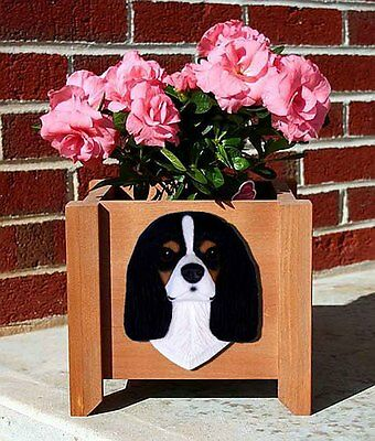 Cavalier King Charles Planter Flower Pot Tri