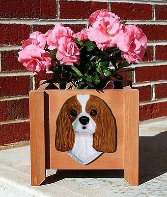 Cavalier King Charles Planter Flower Pot Blenheim