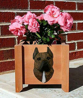 American Staffordshire Planter Flower Pot Brindle