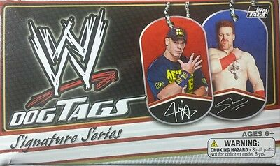 WWE DOGS TAGS Signature Series 2013 ( single ) UPDATED LIST JANUARY 2016