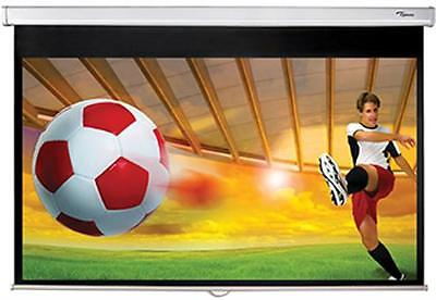 """Optoma DS-9092PWC 92"""" Pull Down Projector Screen (White)"""