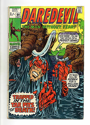 Daredevil Vol 1 No 66 Jul 1970 (VG+ to FN-)Marvel Comics, Bronze Age (1970-1979)