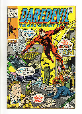 Daredevil Vol 1 No 74 Mar 1971 (FN) Marvel Comics, Bronze Age (1970-1979)